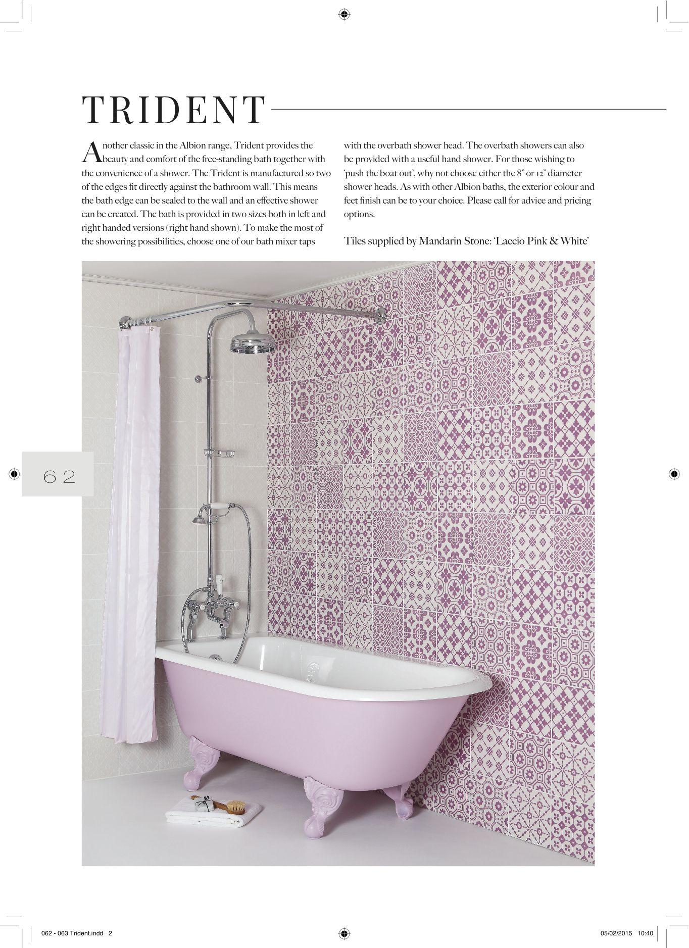 Bad op pootjes, douchebad, douchen in bad, mooie combinatie ...