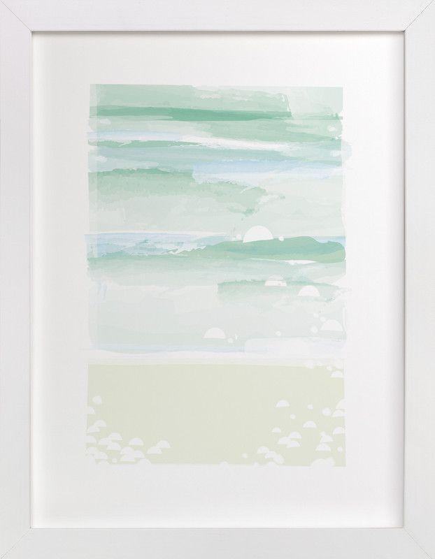 Inspirational watercolor art print white frame