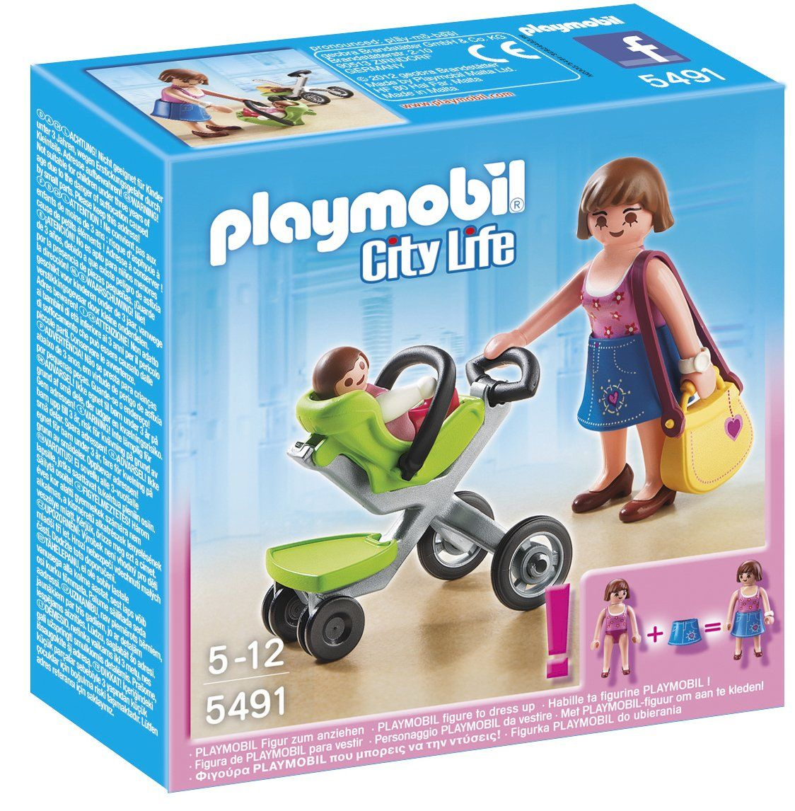 Playmobil City Life 5491 Mother with Infant Stroller ...