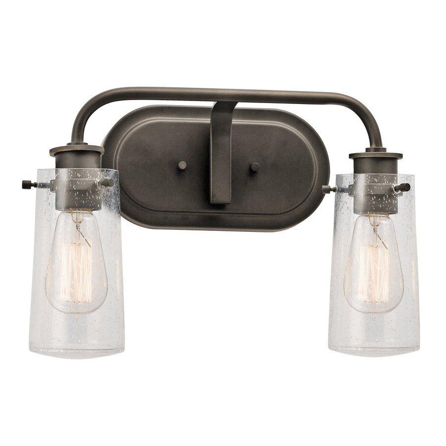rustic bathroom vanity lights. Shop Kichler Lighting 2-Light Braelyn Olde Bronze Bathroom Vanity Light At Lowes.com Rustic Lights C