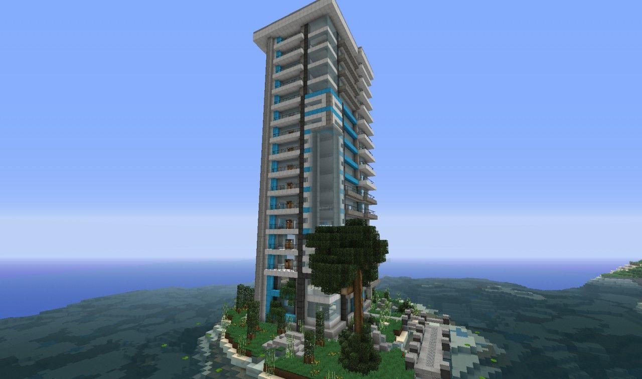 Modern Architecture Minecraft midnight springs - a modern skyscraper [wok] minecraft project