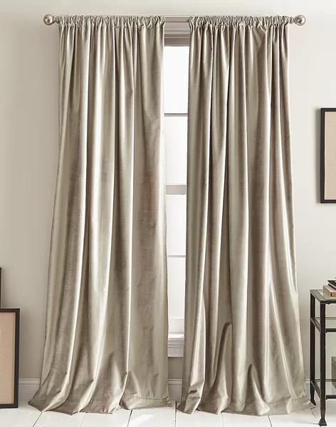 Modern Knotted Cotton Blend Solid Room Darkening Rod Pocket Curtain Panel   Joss & Main#blend #cotton #curtain #darkening #joss #knotted #main #modern #panel #pocket #rod #room #solid
