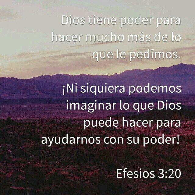 Populares Efesios 3:20   En quien creo   Pinterest   Efesios, Textos y Crear YD81
