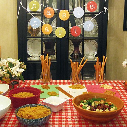 Italian Party Table Ideas 2017 09 29 Pasta