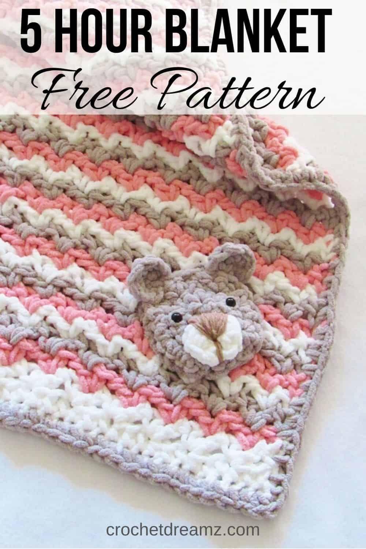 Crochet Baby Blanket Free Pattern, Baby Bear Blanket - Crochet Dreamz