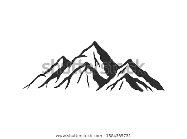 Mountain Silhouette Vector Icon Rocky Peaks Stock Vector Royalty Free 1584335731 Silhouette Vector Mountain Silhouette Vector Icons