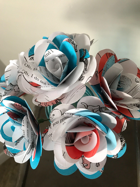 Cat in the Hat Book Paper Roses, Half Dozen or Dozen, Dr