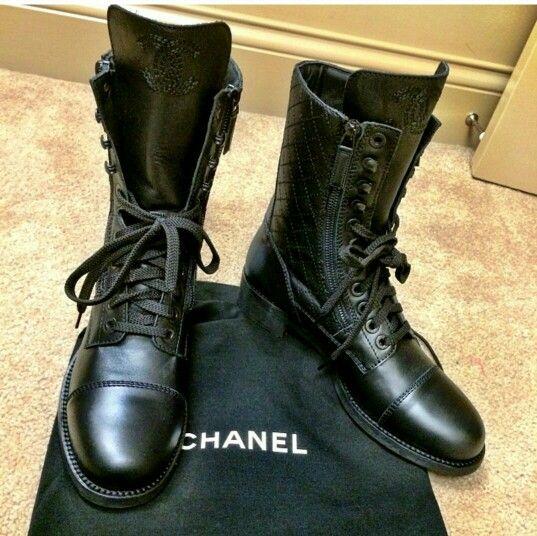 Chanel combat boots | Chanel combat