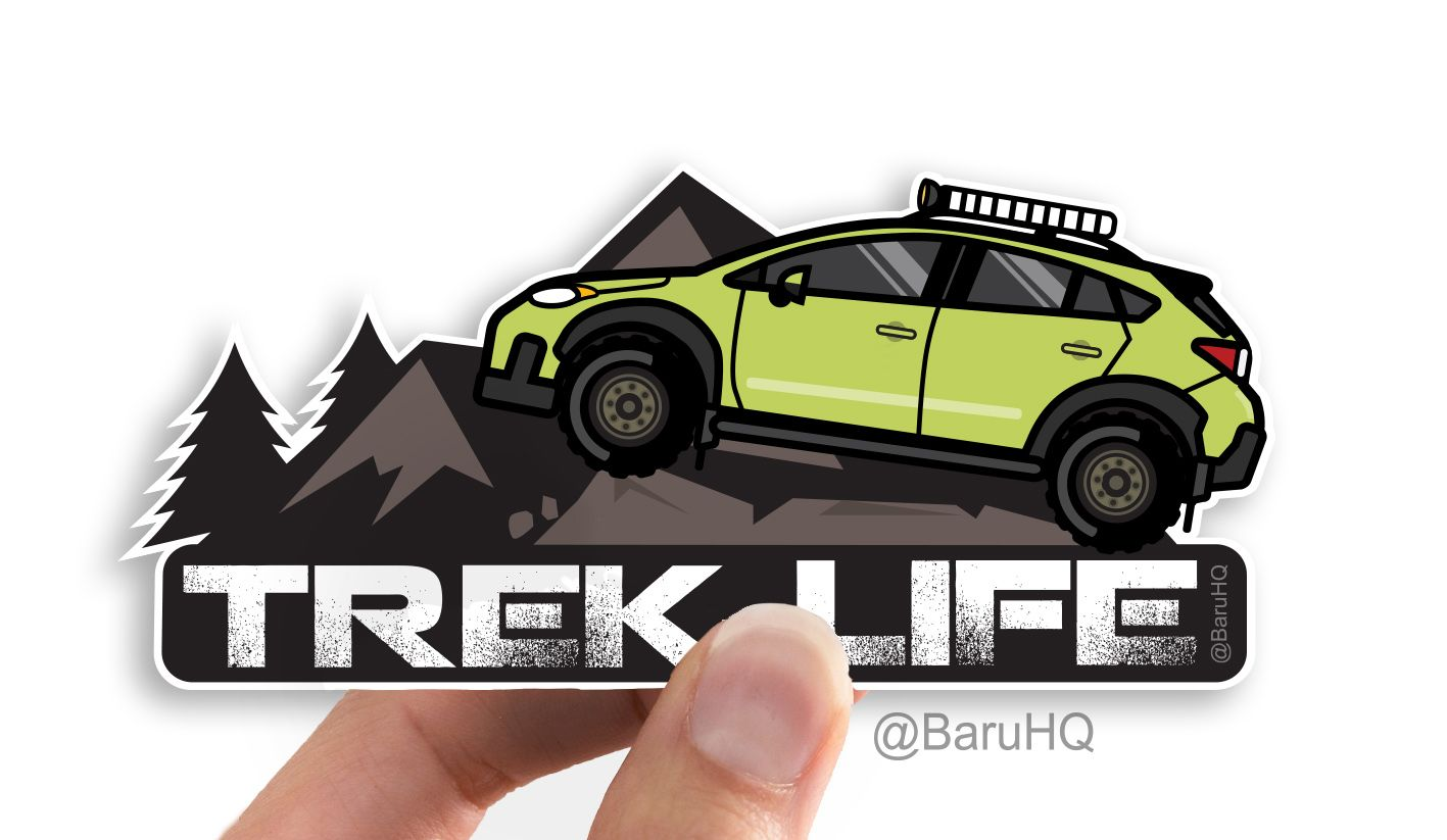 Trek Life Subaru Crosstrek Car Decal With Images Subaru Crosstrek Subaru Subaru Accessories