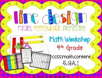 Geometry Activity: Line Design     4th Grade     Geometry