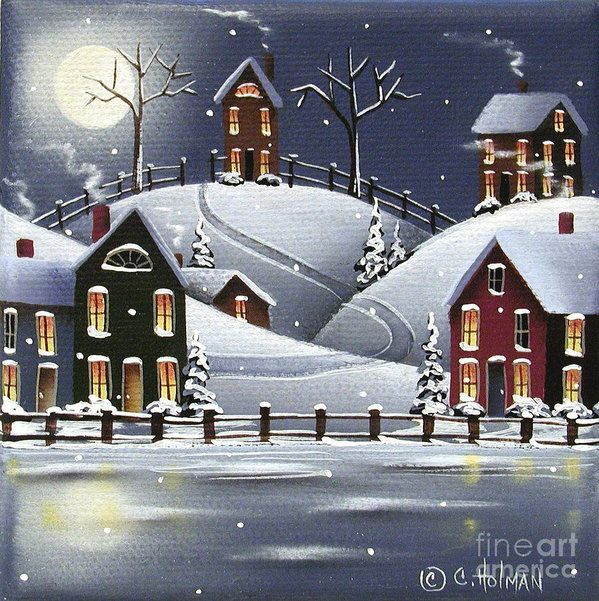 Snowflake Cove Art Print by Catherine Holman