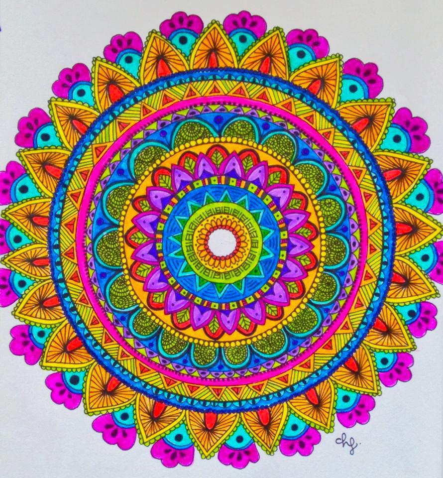 Zentangle art daniela hoyos art insta danielahoyos mandalas - Colores para mandalas ...