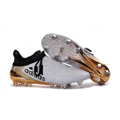 competitive price 7c2cf 28ff1 2016 Adidas X 16 Purechaos FG AG Chaussures de football Blanc Or