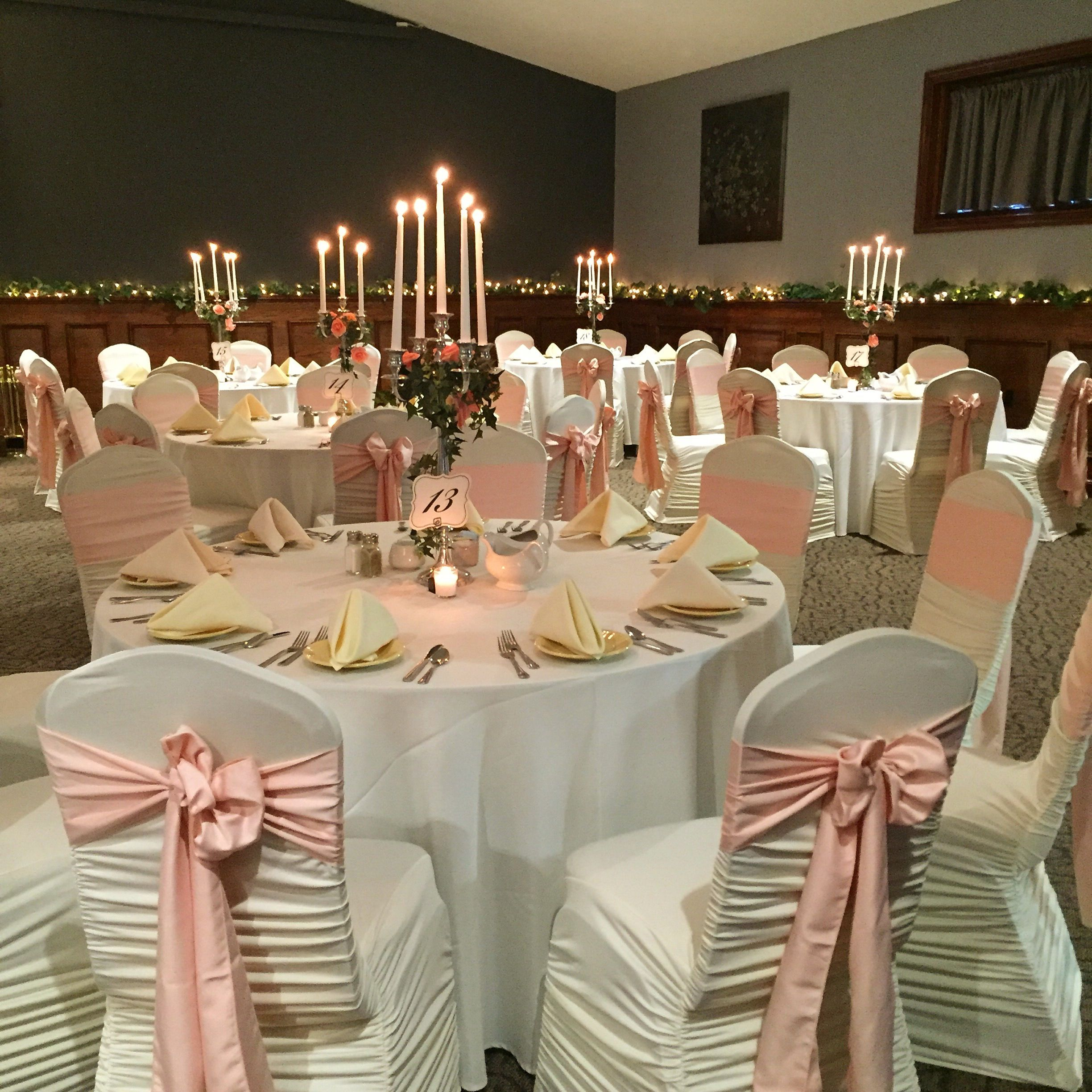Table Set For Weir Massie Wedding Ceremony & Reception In