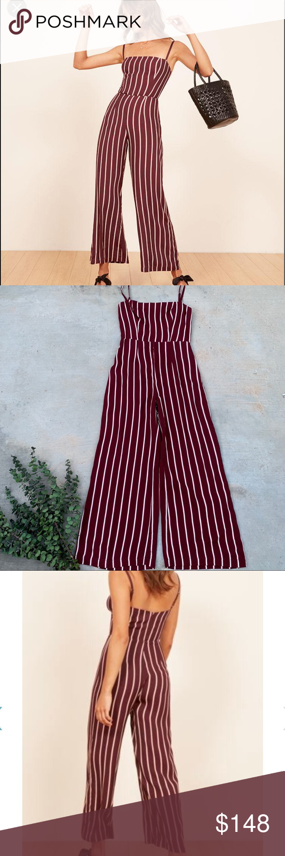 bf63c068c807 Reformation Guatemala Stripe Jumpsuit Has a small flaw by zipper ...