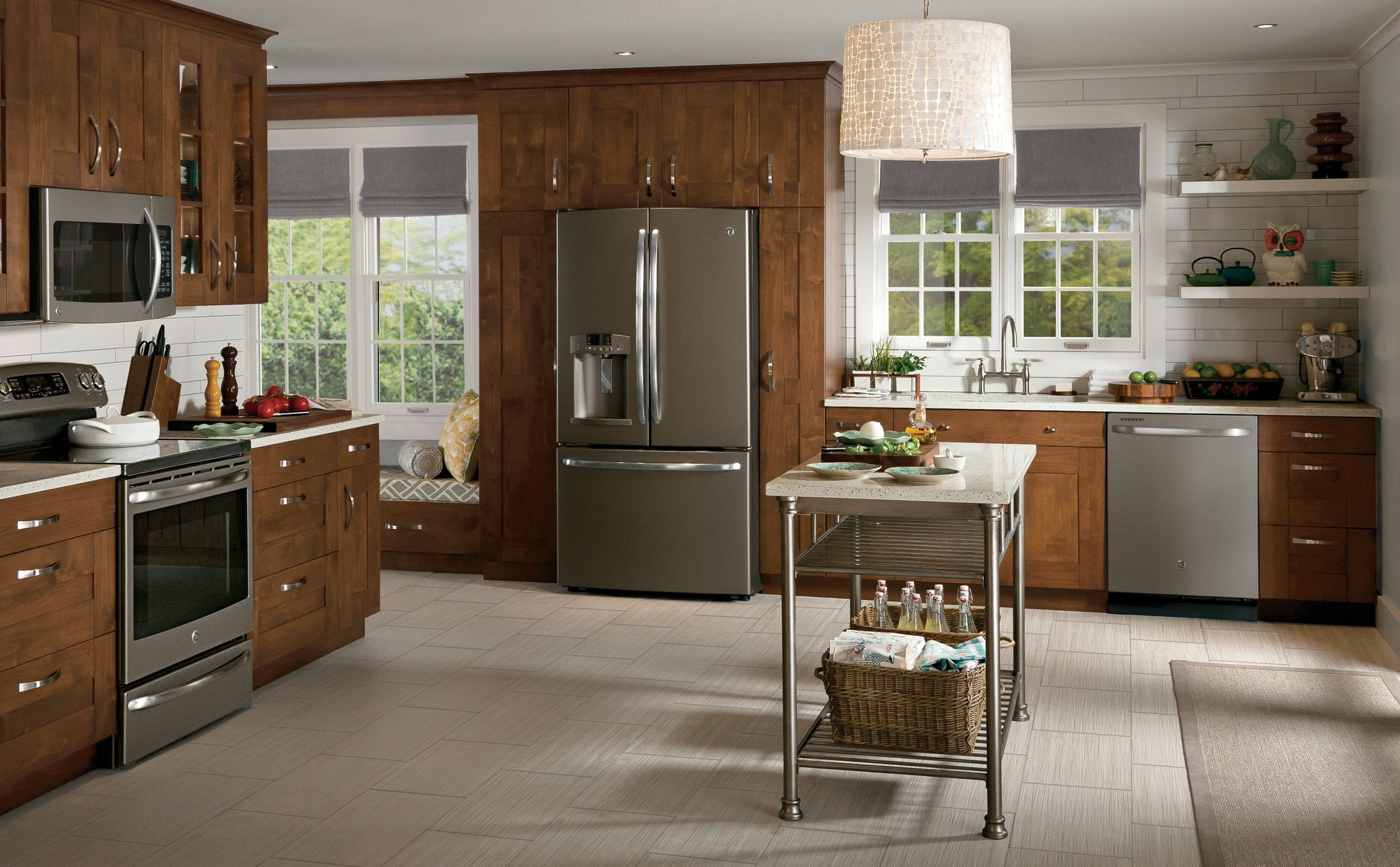 Slate Country Kitchen Design GE Appliances