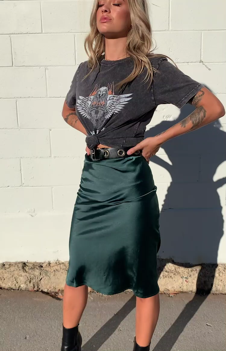 Trisha Midi Skirt Emerald