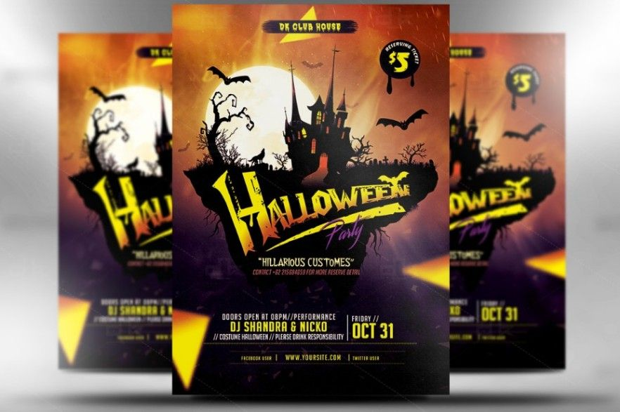 FullyEditableZombieFlyerTemplate  Halloween Party Flyer