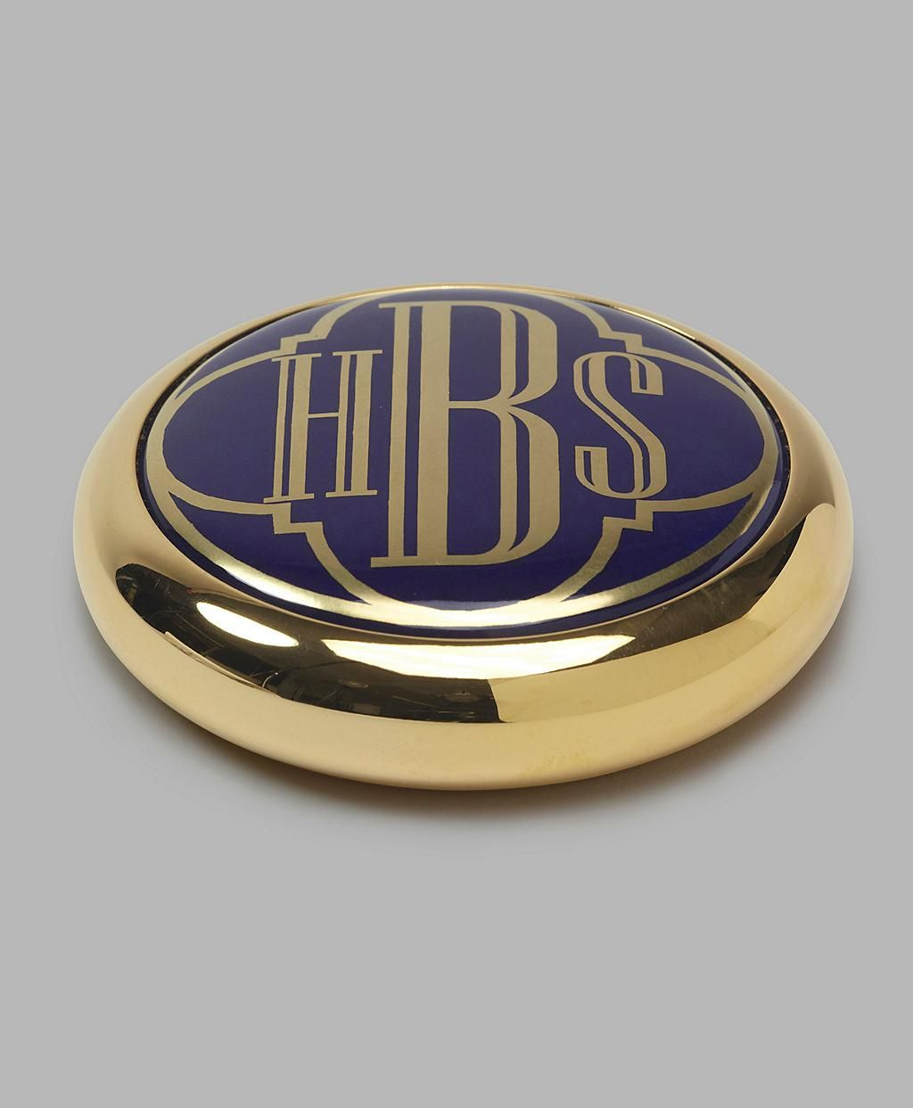 Handpainted Enamel Brass Paperweight Brooks Brothers Southern