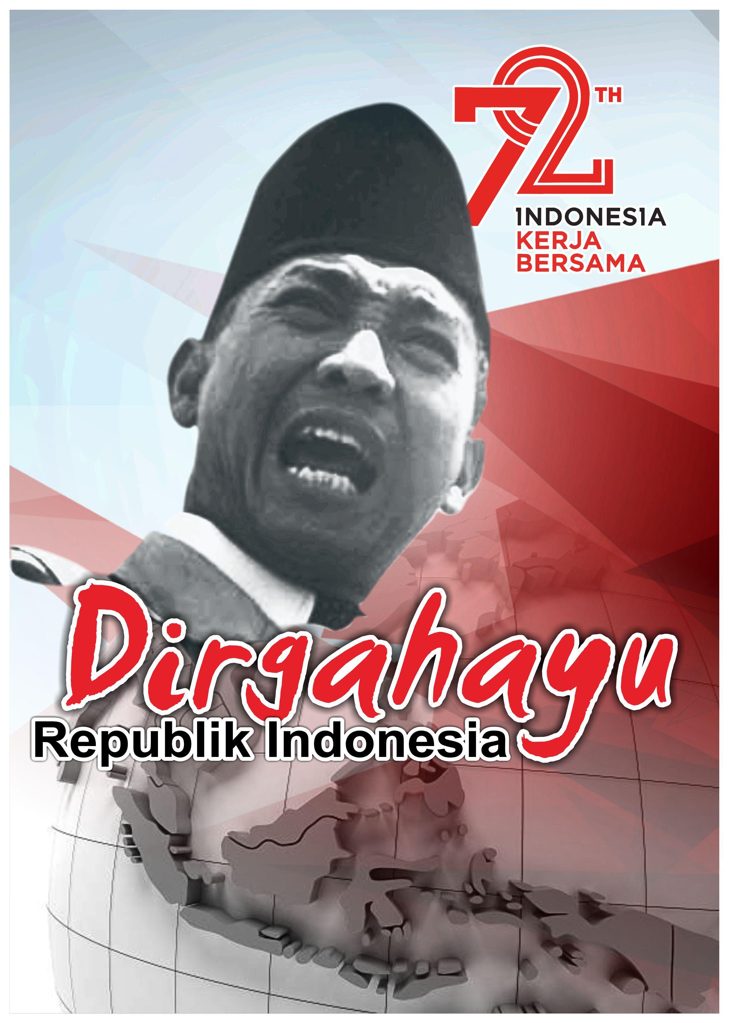 Poster HUT RI 72 Dirgahayu Kemerdekaan Indonesia Spanduk In 2018
