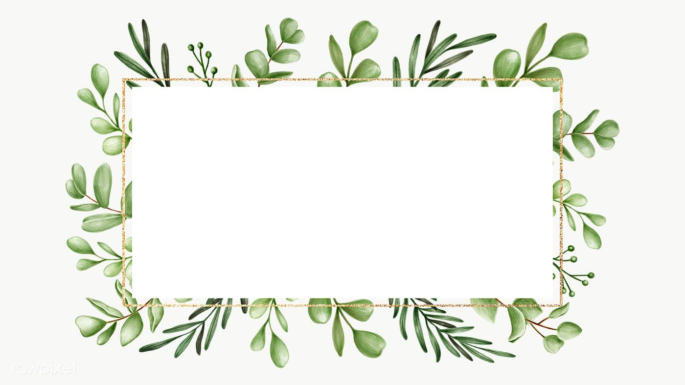 Green Floral Frame Transparent Png Premium Image By Rawpixel Com Noon Floral Design Drawing Floral Printables Wreath Watercolor