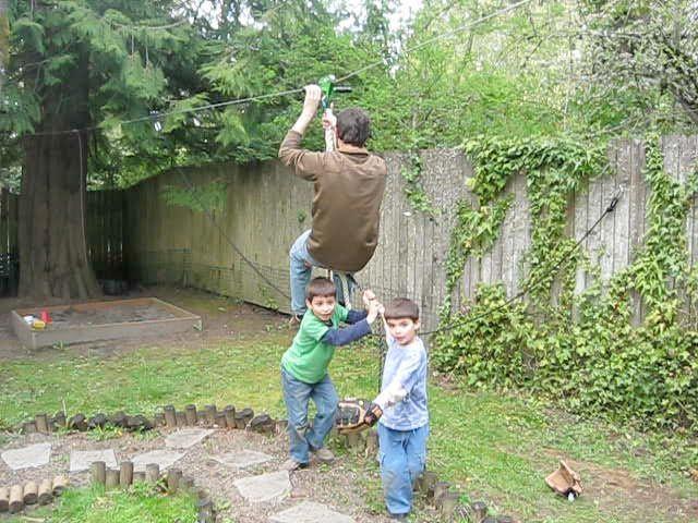 How To Build A Zipline In Your Backyard | Backyard ...