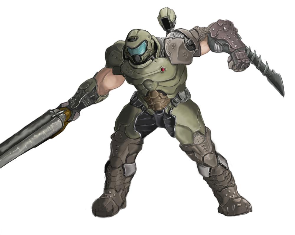 Just Drew Doom Guy Doom Cover Doom Game Doom