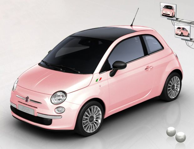 Pink Fiat !!!! Want !!!!