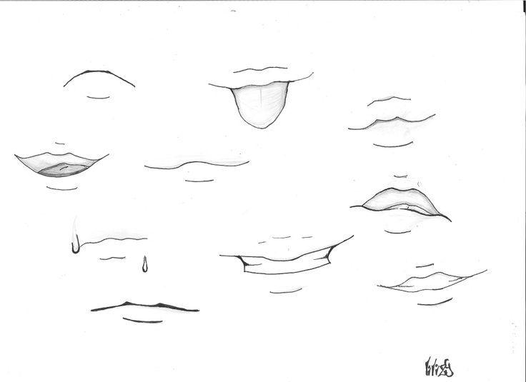 R sultat de recherche d 39 images pour bouche manga anime pinterest - Modele dessin personnage ...
