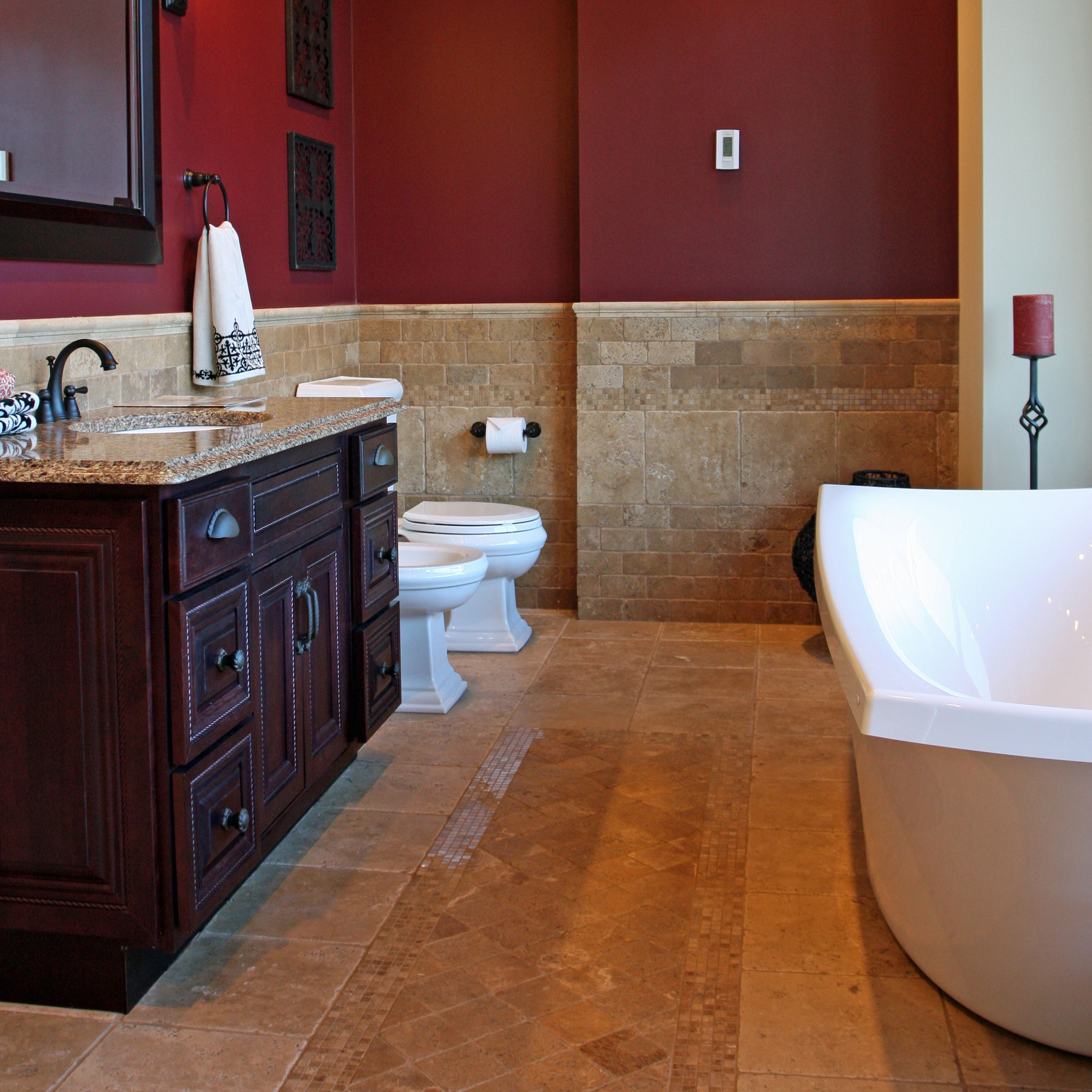 Travertine Tile Bathroom Ideas travertine tiles protect your walls and lend a timeless elegance