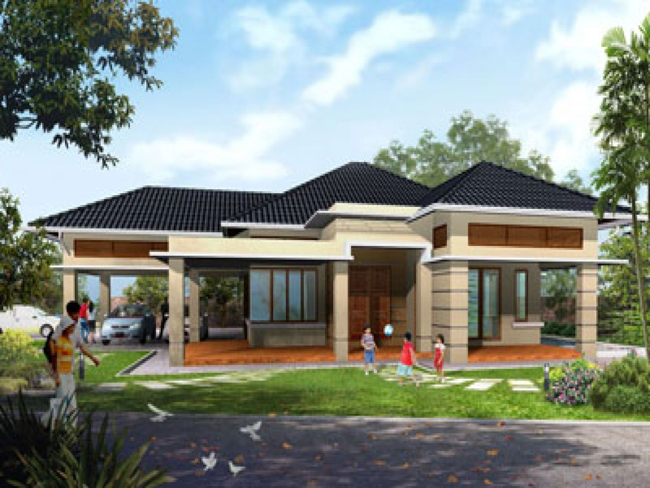 single story house designs rustic plans modern