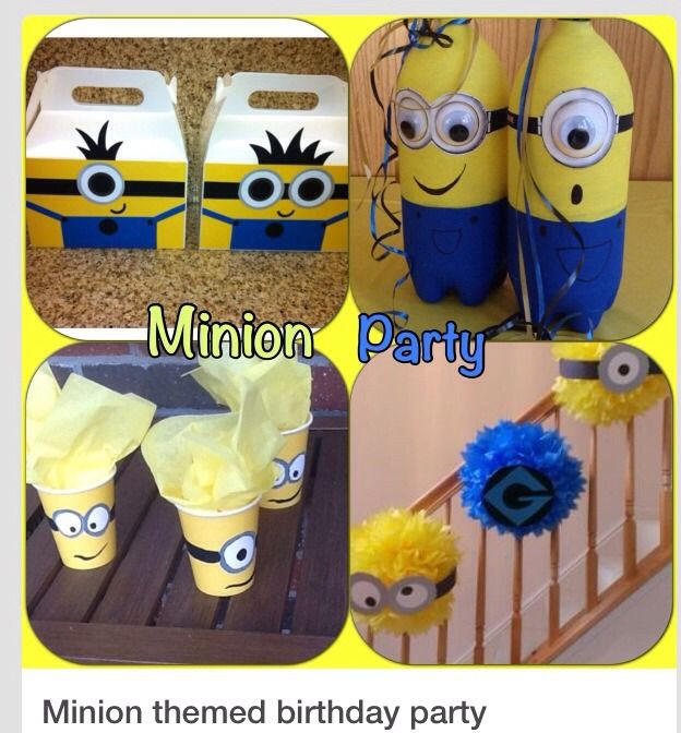 Minion Birthday Party Theme Pin now read later DIY Pinterest