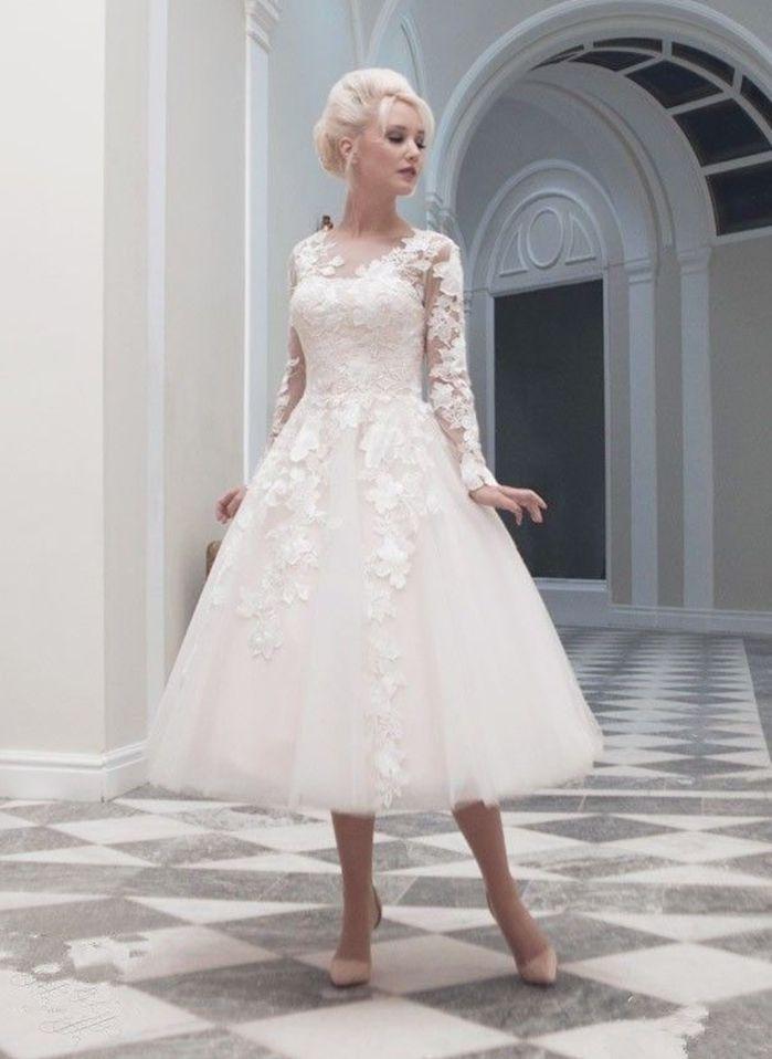 Details zu Neu Kurz Spitze Weiß/Elfenbein Hochzeitskleid Brautkleid ...