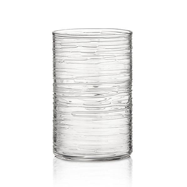 Spin Large Hurricane-Vase in Candleholders   Crate and Barrel