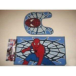 Awesome Spiderman Bathroom Set   Spiderman Bath Mat 2PC Rug Set: Home U0026 Kitchen