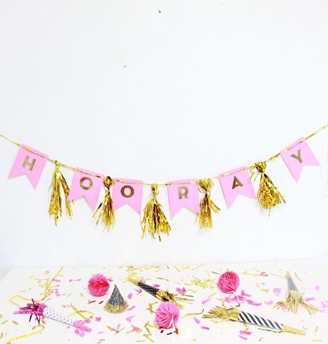 DIY Party Fringe Banner!