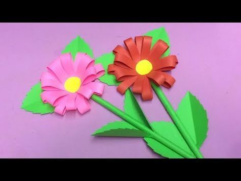Paper crafts youtube image collections coloring pages adult how to make dahlia flower with paper making paper flowers step by mightylinksfo Choice Image