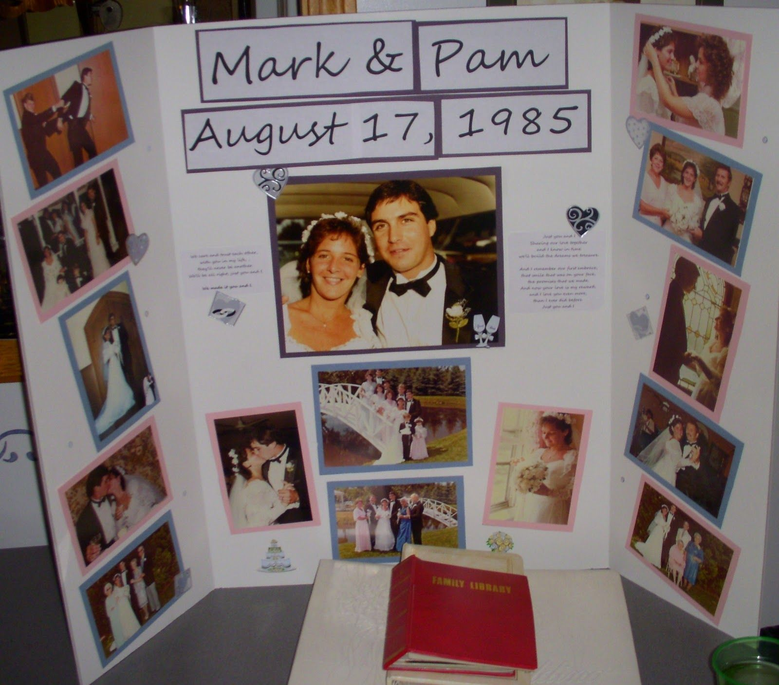 Couple collage mom and dad s th anniversary surprise