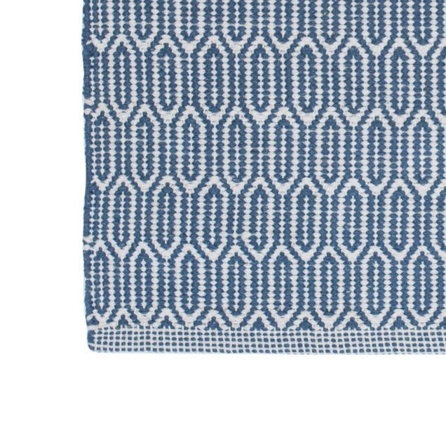 Blue And White Scandinavian Rug: Blue Patterned Washable Cotton Rug From Skandihome. Home