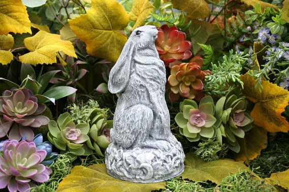 Superbe Traditional Moon Gazing Hare Pagan Statue By PhenomeGNOME On Etsy, $39.99