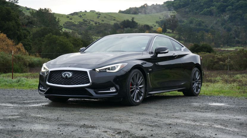 2017 Infiniti Q60 Red Sport 400 A sports coupe