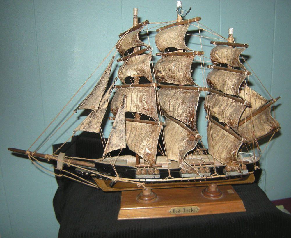 Red Jacket Vintage Wooden Model Ship