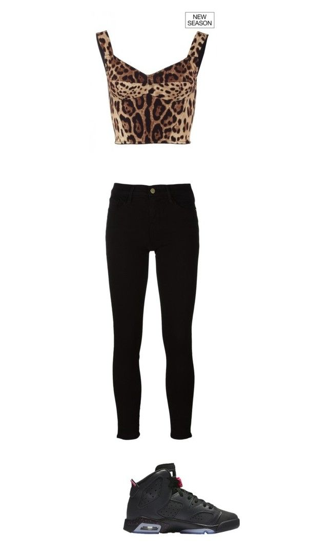 """""""Outfits#25"""" by kisha1891010 ❤ liked on Polyvore featuring Dolce&Gabbana and Frame"""