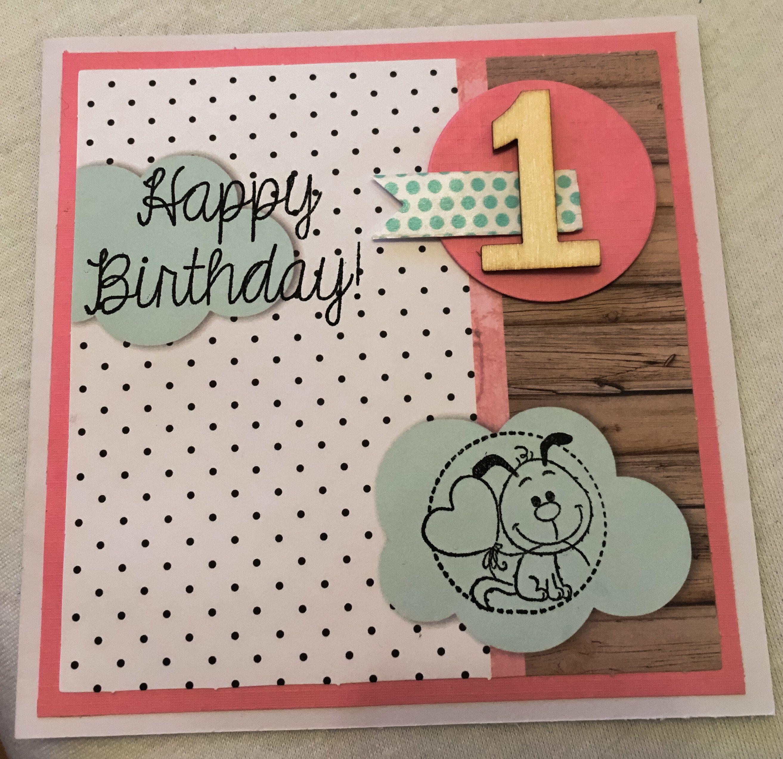 Handmade Birthdaycard For My Nieces First Birthday This Year