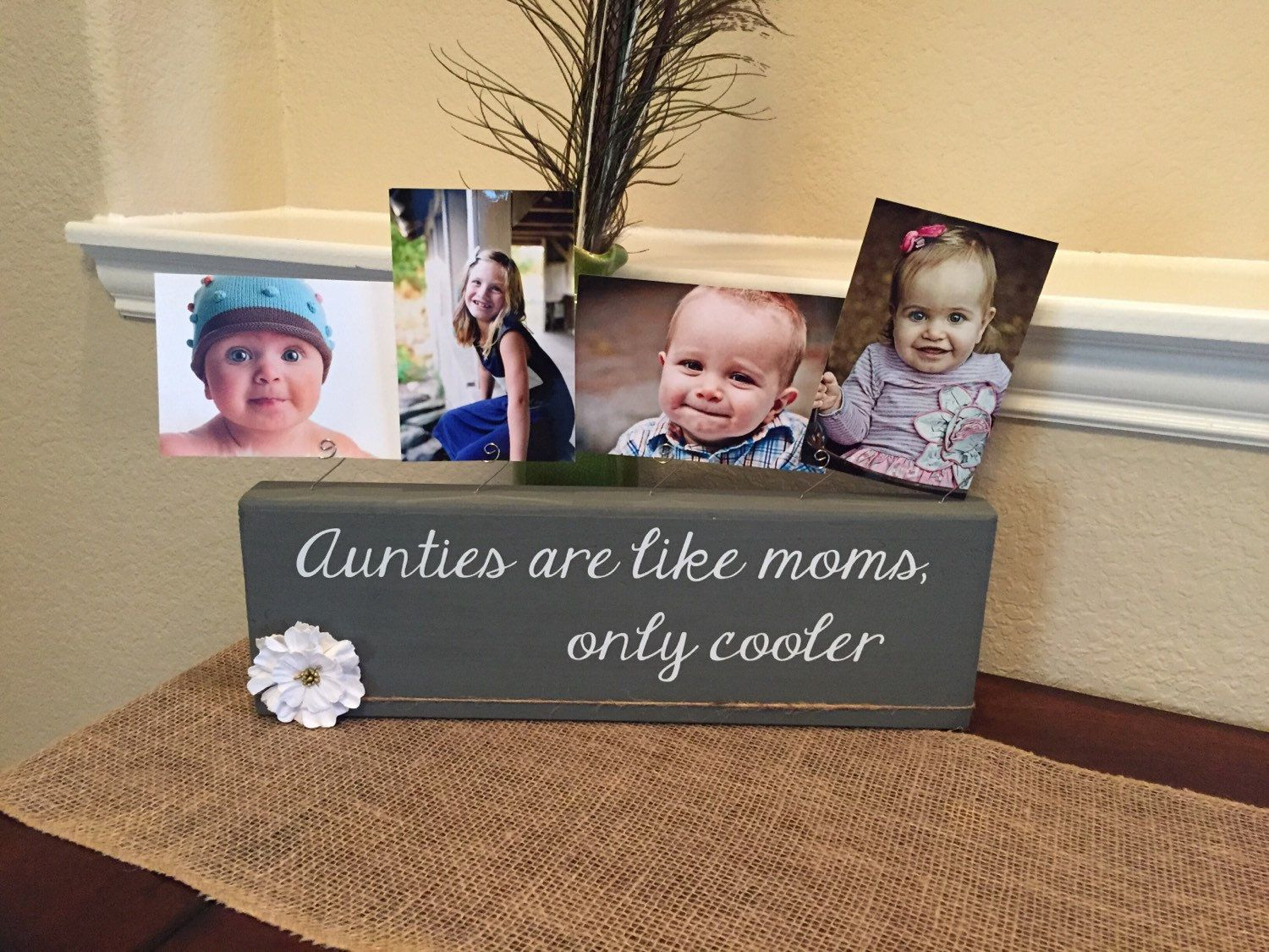 Aunt Christmas Gift Personalized picture frame board for aunt! Gift ...