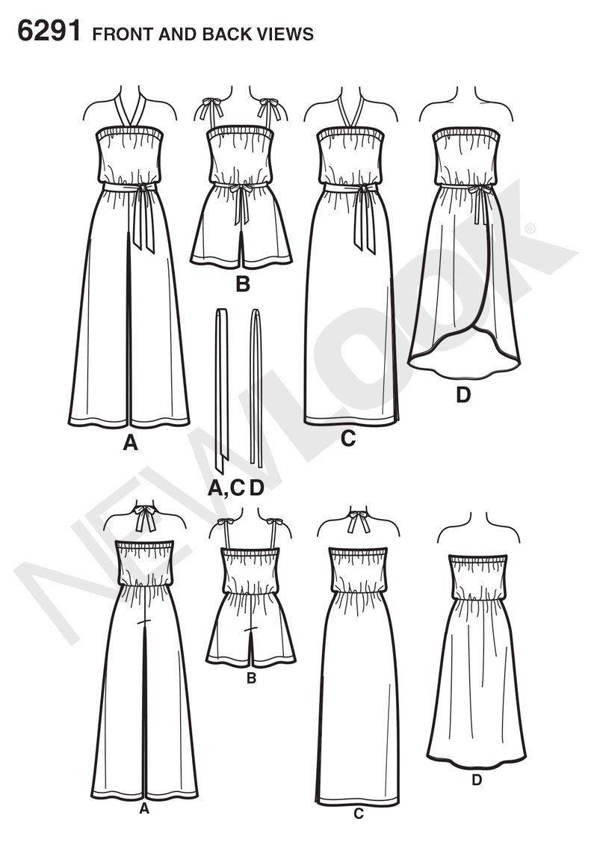 NL6291 Misses\' Jumpsuit & Dress Each in 2 Lengths | Patterns ...