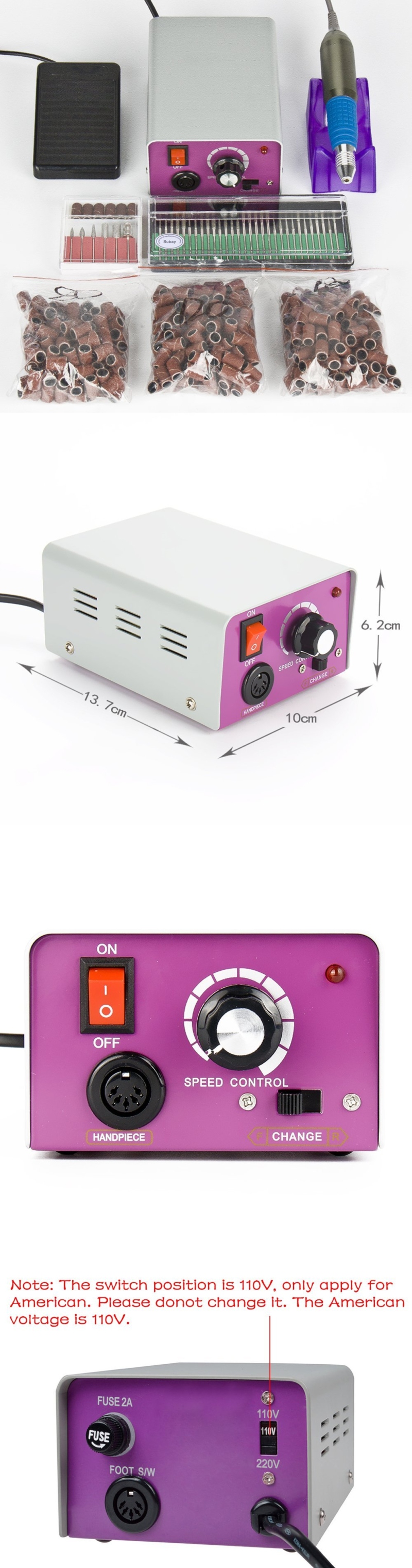 Electric Files and Tools: 25,000 Rpm Professional Electric Nail ...