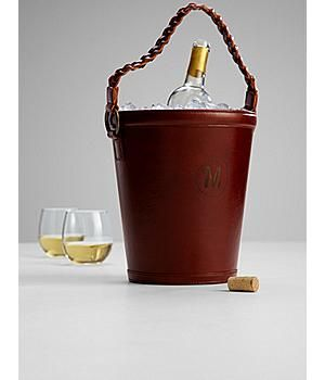 Leather Wine Bucket Perfect For Celebrating Your 3rd Anniversary