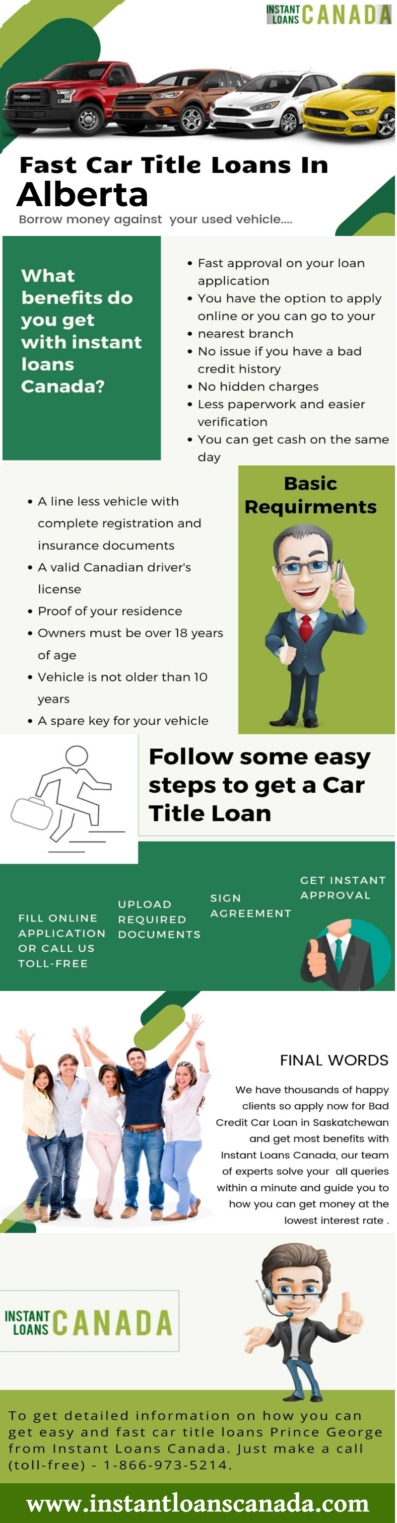 Fast Same Day Approval Car Title Loan In Alberta In 2020 Car Title Loan Loans For Bad Credit