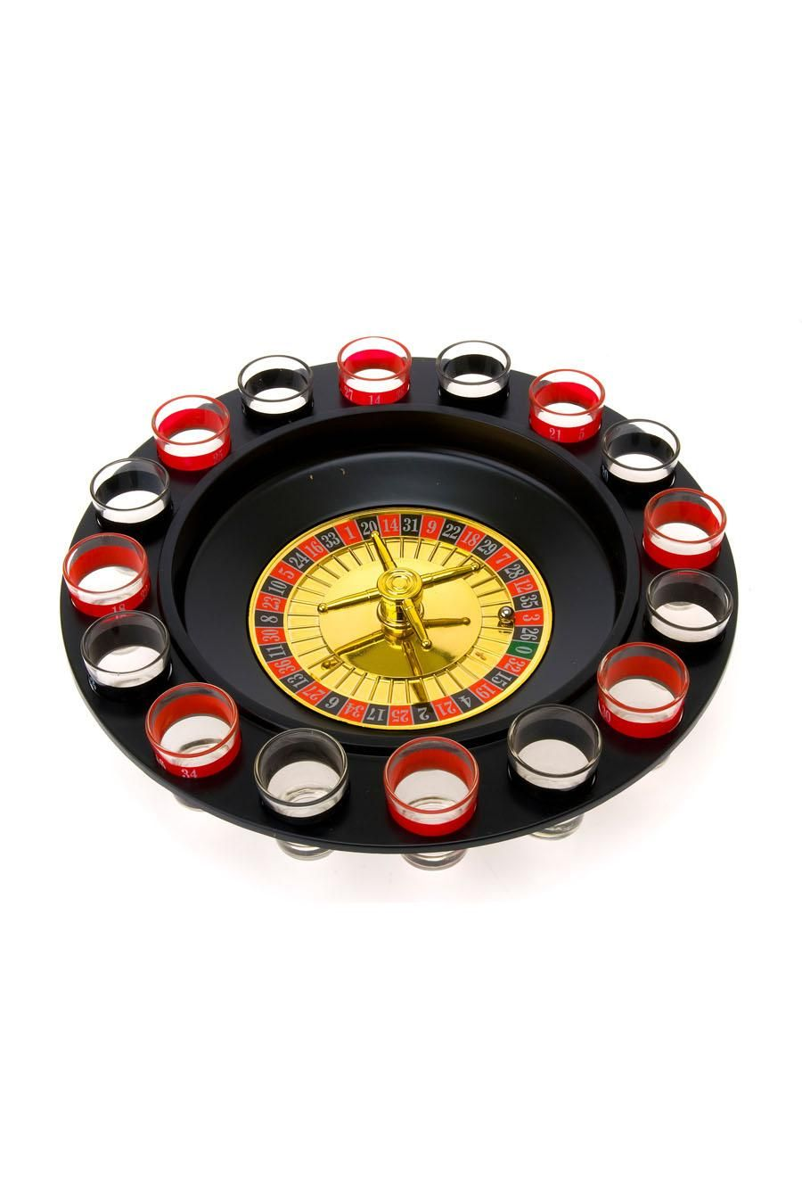 Wanted Drinking Roulette Game Including 16 Shot Glasses